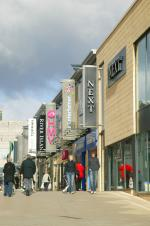 Major retailers at The Water Gardens, Harlow